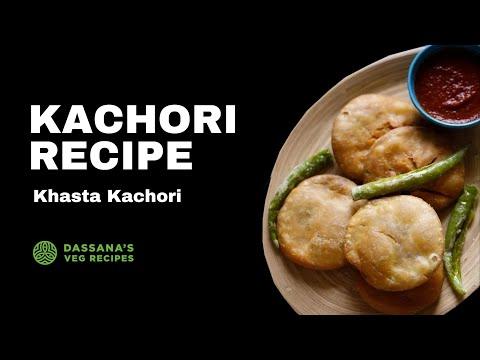kachori recipe - how to make dal kachori | khasta kachori recipe