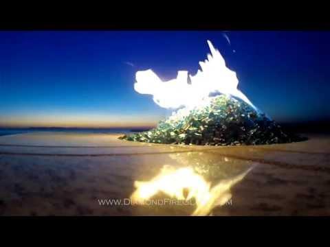 Fire Pit At Sunset - Diamond Fire Glass ®