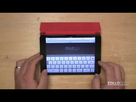 Typing on iPad mini