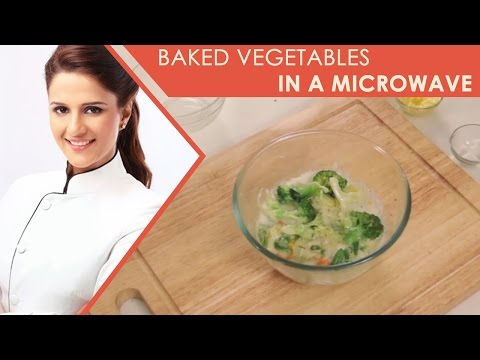 How To Make Baked Vegetables in a Microwave I Baked Vegetables - Fast and Easy Recipe