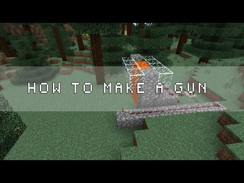 ✔ Minecraft: How to make a working gun