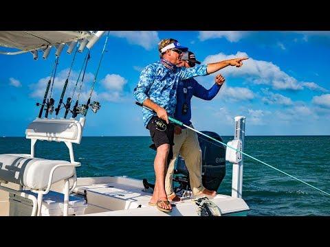 Key West Fishing for Tarpon Barracuda and Lemon Shark - 4K