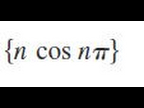 {n cos n*pi} Determine whether the sequence converges or diverges. If it converges