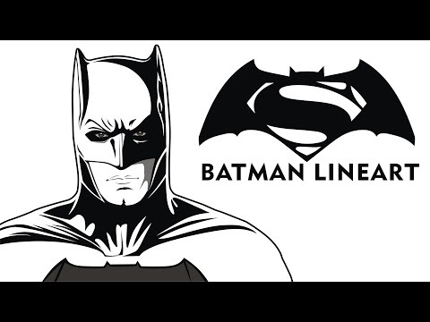 Converting Batman into Comic Style Lineart With CorelDraw