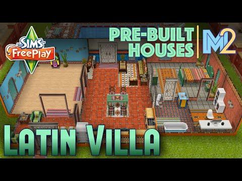 Sims FreePlay - Latin Villa on Premium Ocean Lot (Review & Walkthrough)