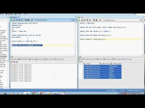 Oracle sql materialized view refresh fast