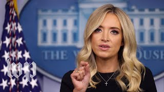 McEnany dodges 6 times when asked about Trump conspiracy tweets