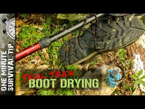 How to dry hiking boots - one minute survival tip