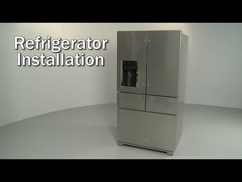Kitchenaid Refrigerator Installation (Model #KRMF706ESS01)
