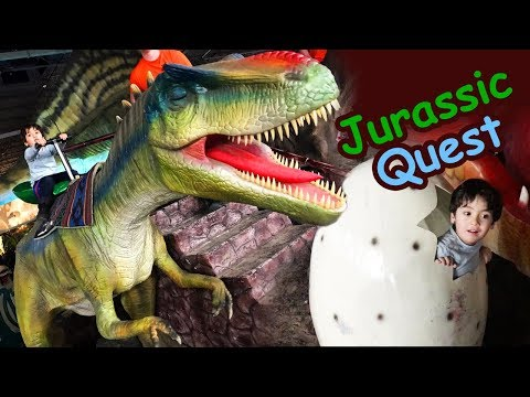 Life Size Dinosaur Family Fun Event w/ Activities for Kids at JURASSIC QUEST. Riding dinosaurs. LPK.