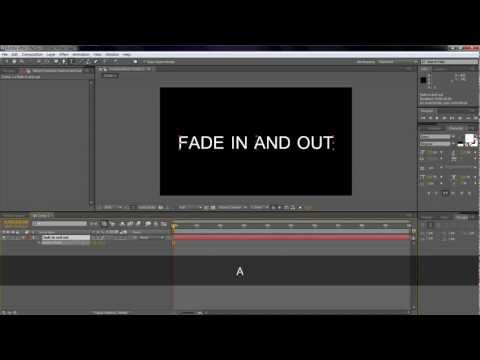 How to make 'fade in and out text' in after effect