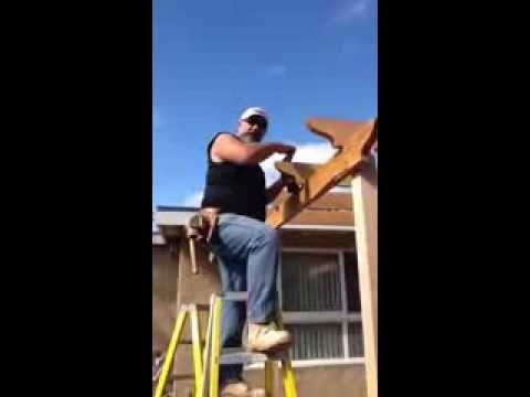 EARL'S LATH AND PLASTERING:BUILDING A AWNING