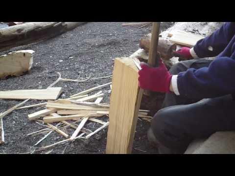 Beachcombing 101 - Making Yellow Cedar Shakes by Hand