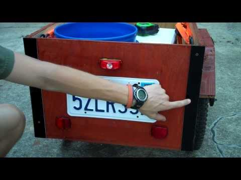 Homemade Bicycle Trailer | 200+ lb capacity