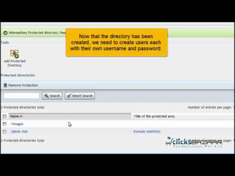 How to password protect a directory in Plesk
