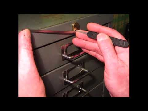 Single Pin Picking An OLD Office Cabinet Lock That Has UNION Brass Lock