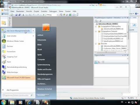 Reporting Services in SQL Server Express 2008 R2 - erste Schritte