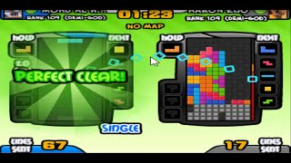 TETRIS BATTLE:【10 Perfect Clears, Back to Back】 in 1:21