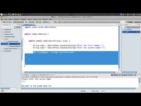 Creating a simple Java dialog using Eclipse IDE on Linux