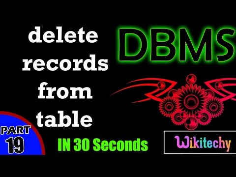 delete records from table in dbms   The DELETE Query    dbms interview questions and answers