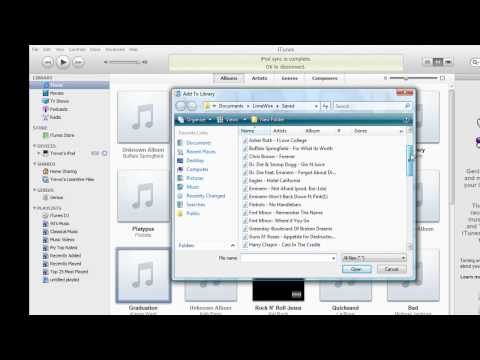 How to Download Music from Limewire to iTunes to Ipod