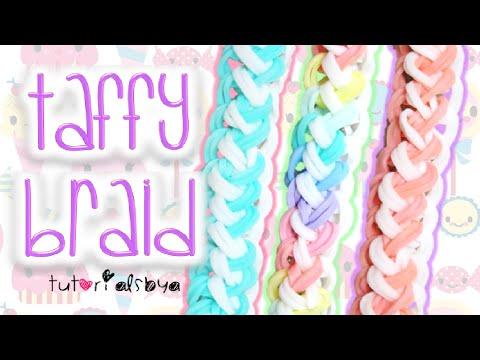 NEW Taffy Braid Rainbow Loom Bracelet Tutorial | How To