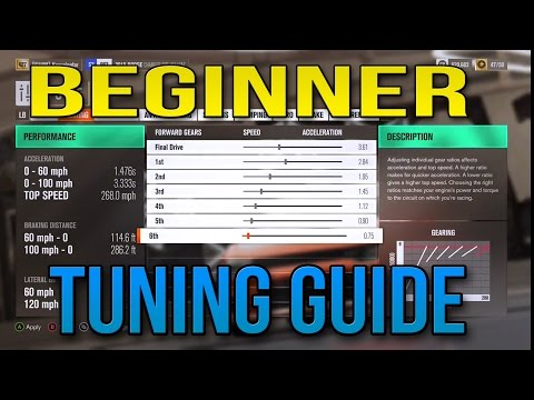 HOW TO TUNE YOUR CAR FOR A BEGINNER - FORZA HORIZON 3 TUNING GUIDE