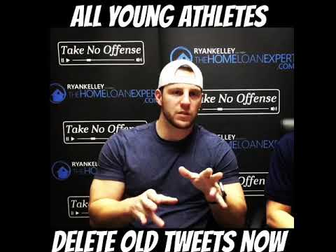 Young athletes, delete your old tweets right now.