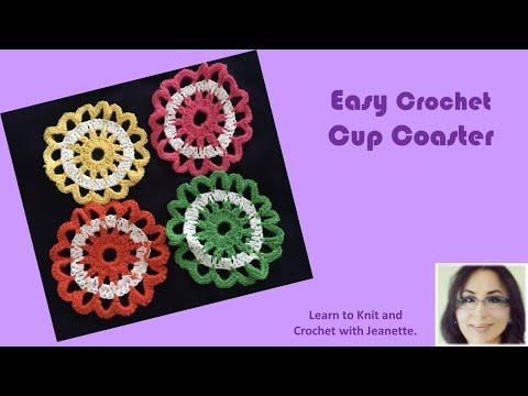 Easy Crochet Cup Coaster
