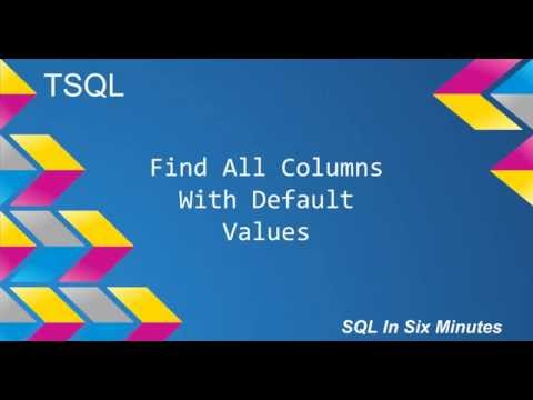 TSQL: Find All Columns With Default Values