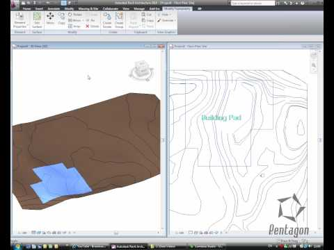 creating a surface in revit from an autocad dwg.wmv