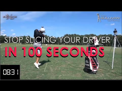 Golf Tip  - Stop Slicing Driver in 100 Seconds