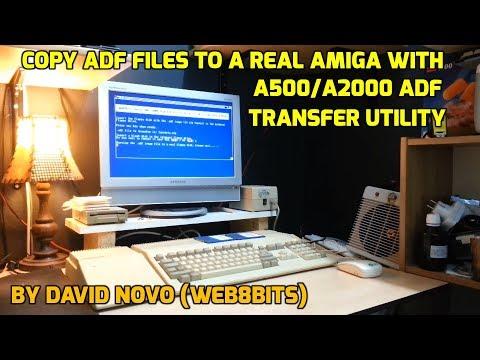 Copy ADF file to Real Amiga Disk using Web8Bits Amiga ADF Transfer Utility Disk