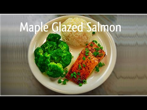Maple Glazed Salmon Recipe | How To Make Baked Salmon | by Whats Cooking Lari