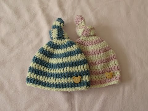 VERY EASY crochet baby knot hat / beanie - crochet hat for beginners