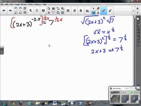 Solving Power Functions