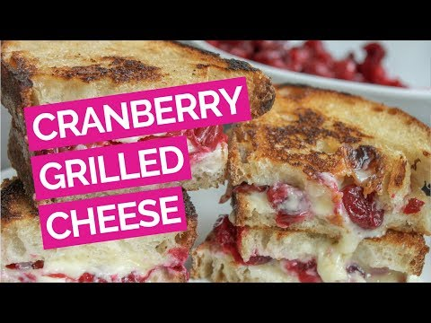 Cranberry Sauce & Brie Grilled Cheese Sandwich