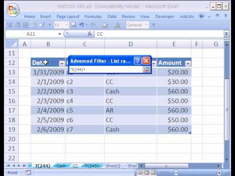 Excel Magic Trick #244: Advanced Filter Extract To New Sheet (Word Criteria)