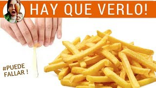 PAPAS FRITAS SIN ACEITE - ¡Gran truco! (patatas fritas)