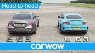 Mercedes-AMG E63 S vs C63 S drag race & rolling race - is there really much difference? | Head2Head
