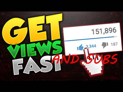 HOW TO GET VIEWS AND SUBSCRIBERS ON YOUTUBE HACK (FREE AND FAST)
