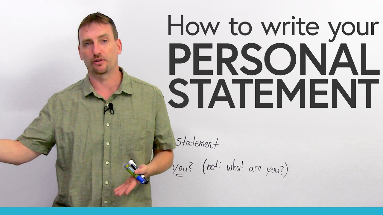 How to write a PERSONAL STATEMENT for university or college