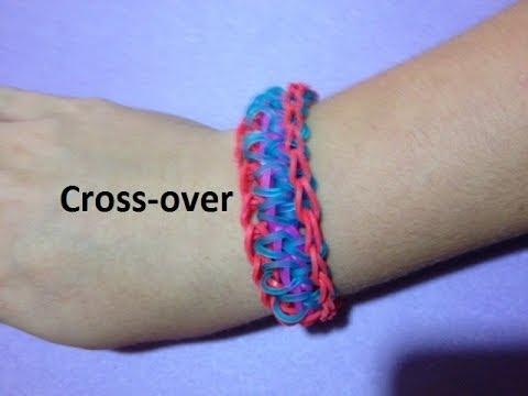 How to Make the Cross-over Bracelet on the Rainbow Loom - Original Design