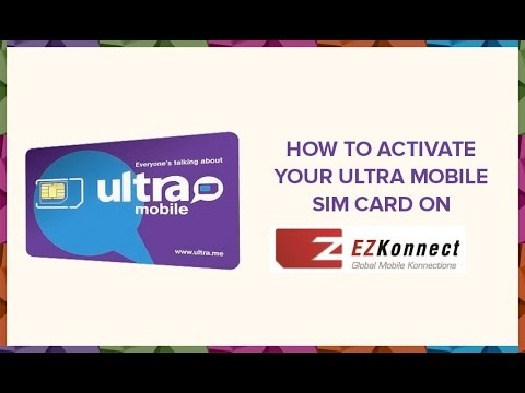 How To Activate Your Ultra Mobile Sim Card On Ezkonnect