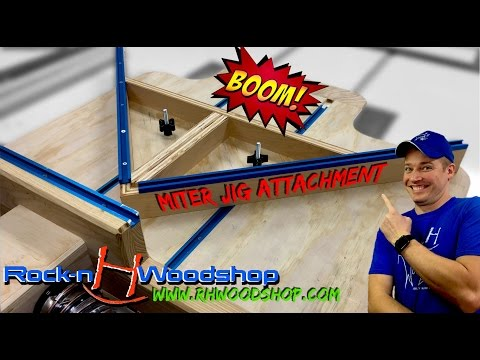 Miter Jig Attachment for Ultimate Crosscut Sled with DC // How to