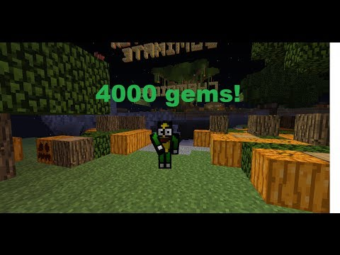 How to get 4000 gems easily in mineplex server! (Halloween) [Dont work no more ;(((((]