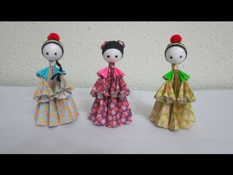TUTORIAL - How to make 3D Paper Dolls - Asian Folk Dolls, Chinese Dynasty
