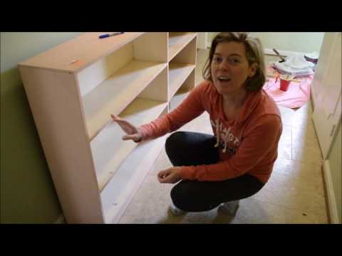 DIY on a Dime  - Thrift Store Built-In Bookcases