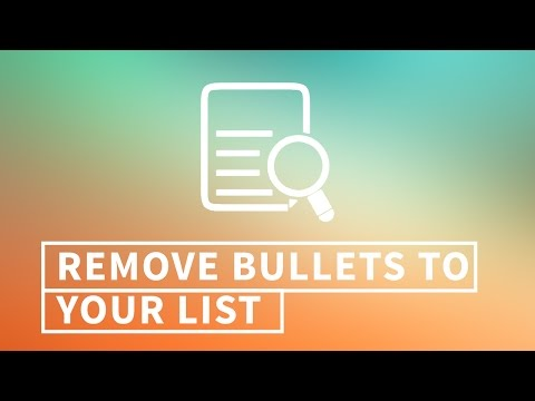 Unordered list without bullets: How to create