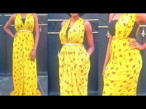 DIY/ Turn your fabric into a Maxi dress. No cutting. No sewing.